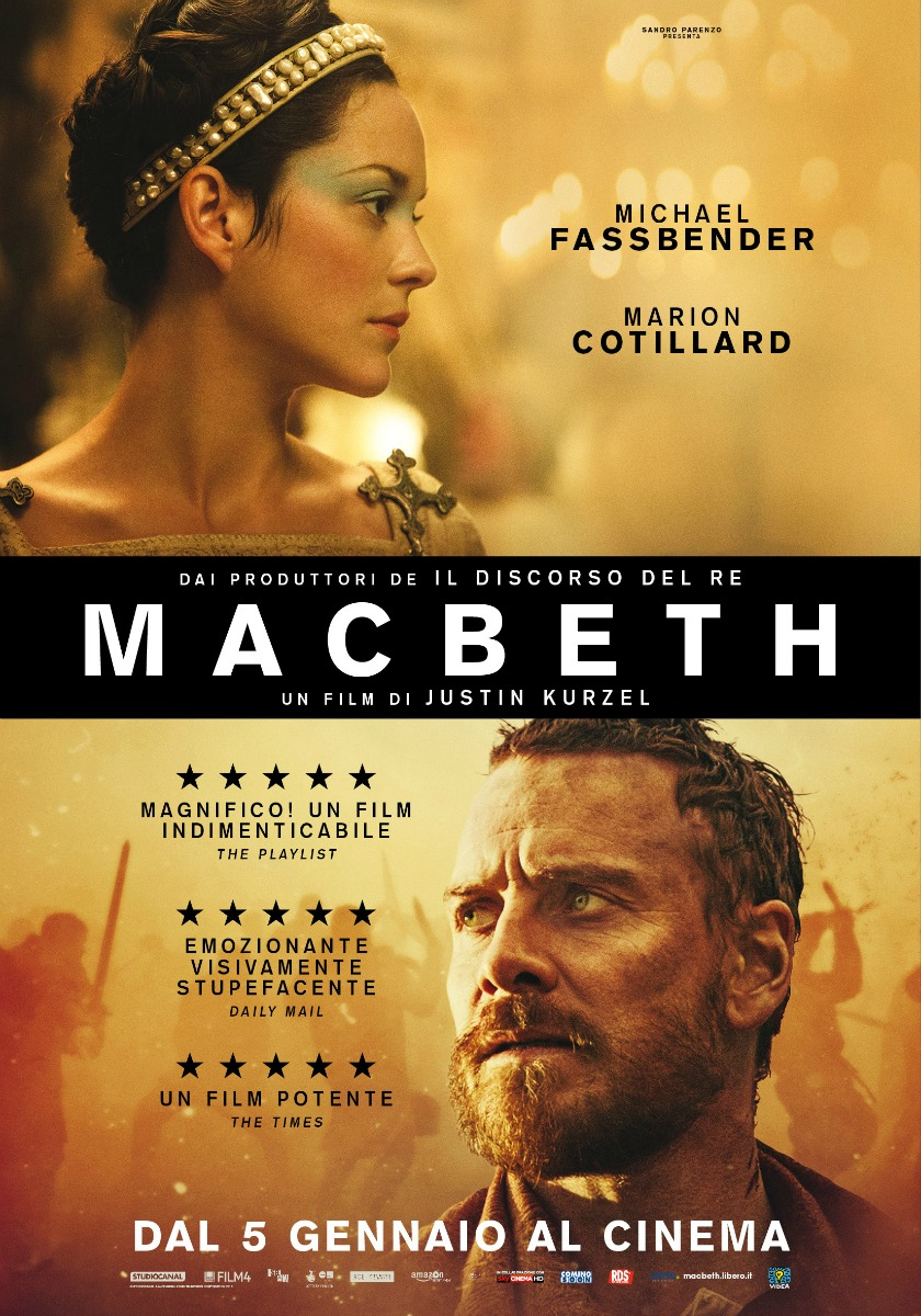 Macbeth locandina film 2016 Shakespeare